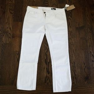 NEW WILLIAM RAST white cropped jeans 30